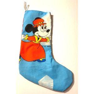 Retro Disney Minnie Fabric Christmas Stocking